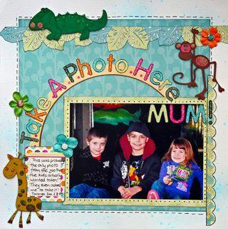 Take a photo here mum