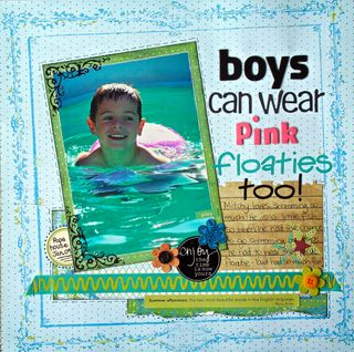 Boys can wear pink floaties too