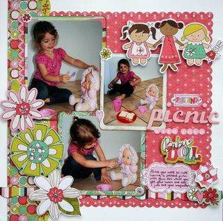 Pretend picnic with your baby doll